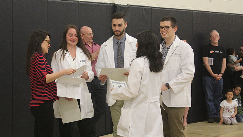 Nursing students are recognized for their work at the annual URCAF.