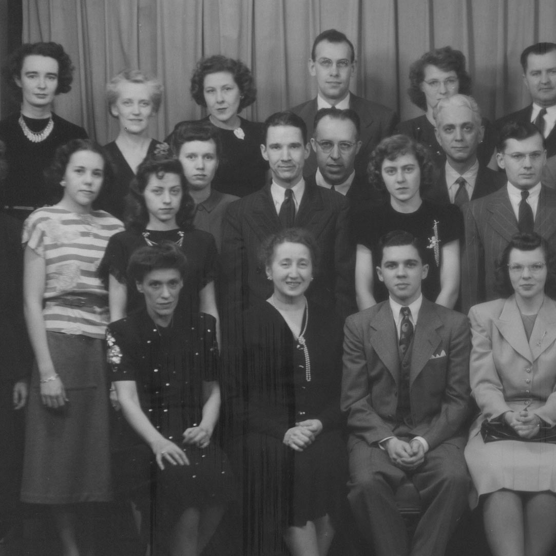 Vintage photo of Altoona Undergraduate Center staff members during World War II