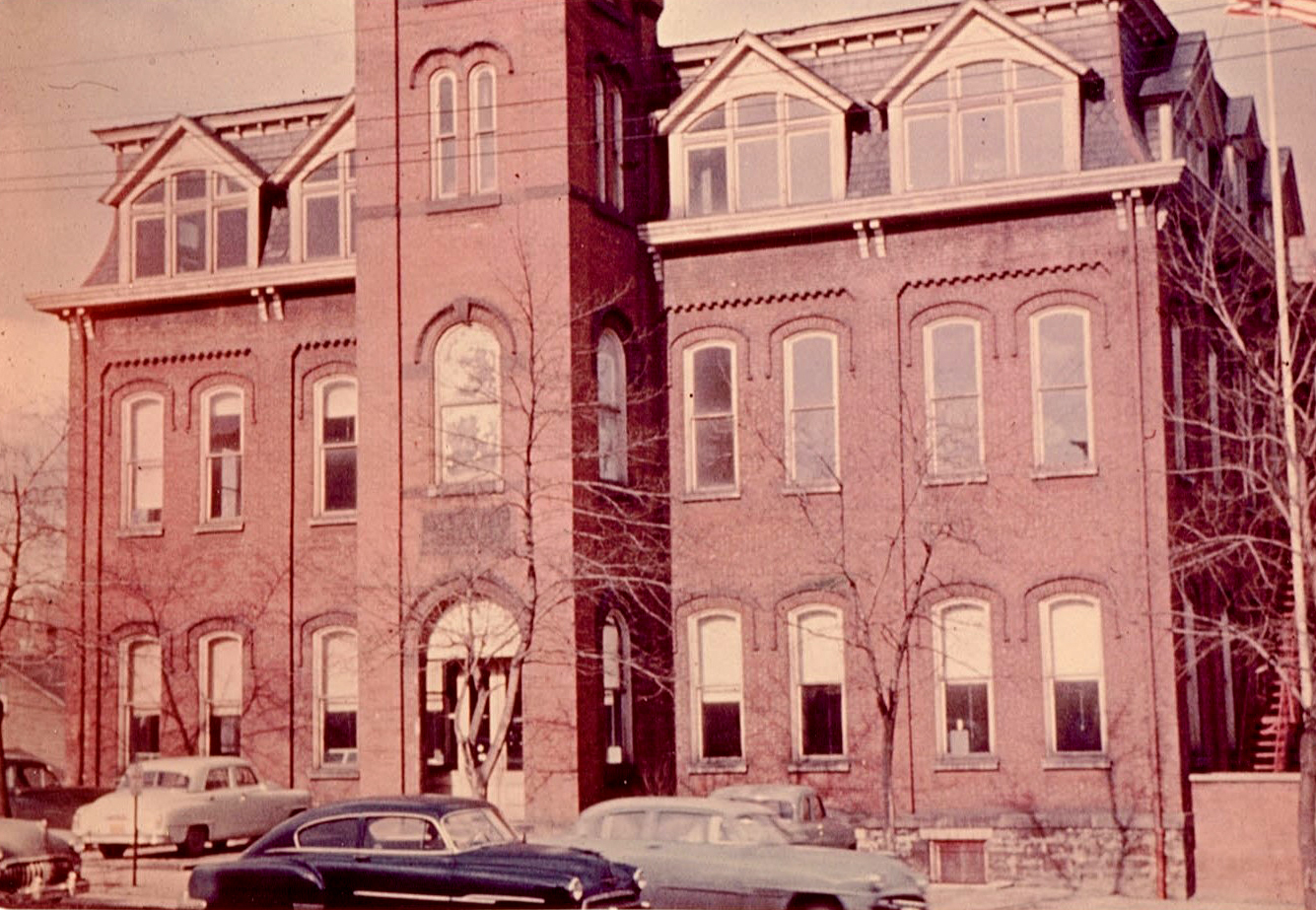 Vintage photo of the Webster School Building in Altoona