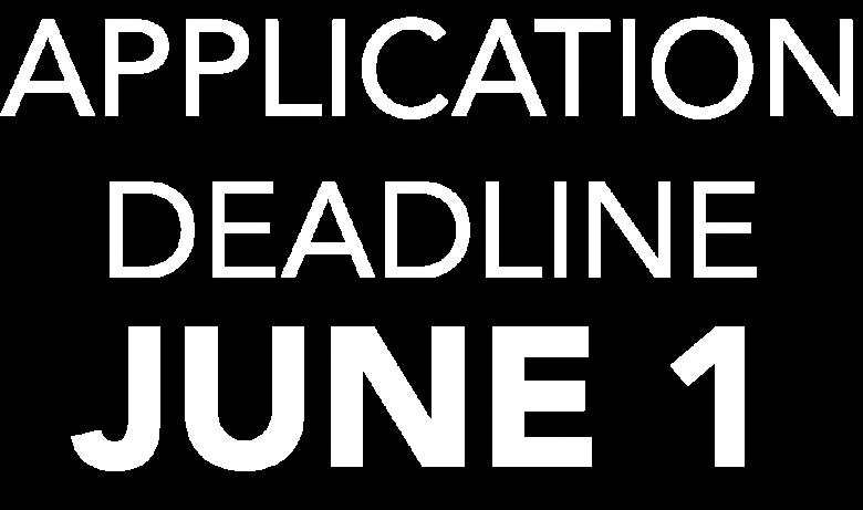 Application Deadline June 1