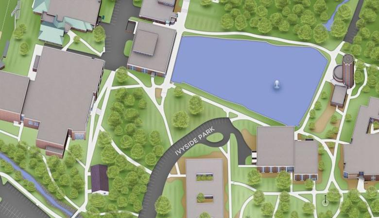 A screenshot of the campus map