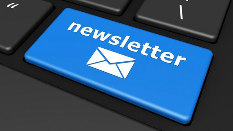 keyboard button reading Newsletter
