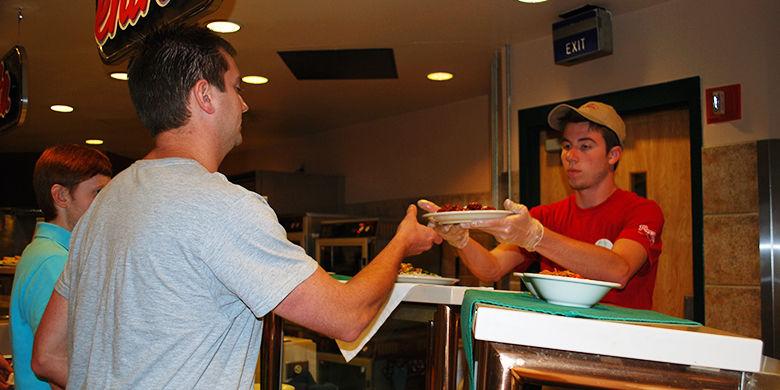 Serving at Port Sky Cafe