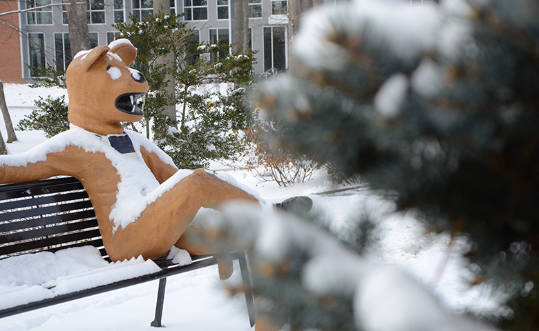 Snowy Nittany Lion