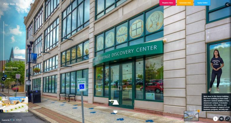 Virtual Tour Screen - Penn Building