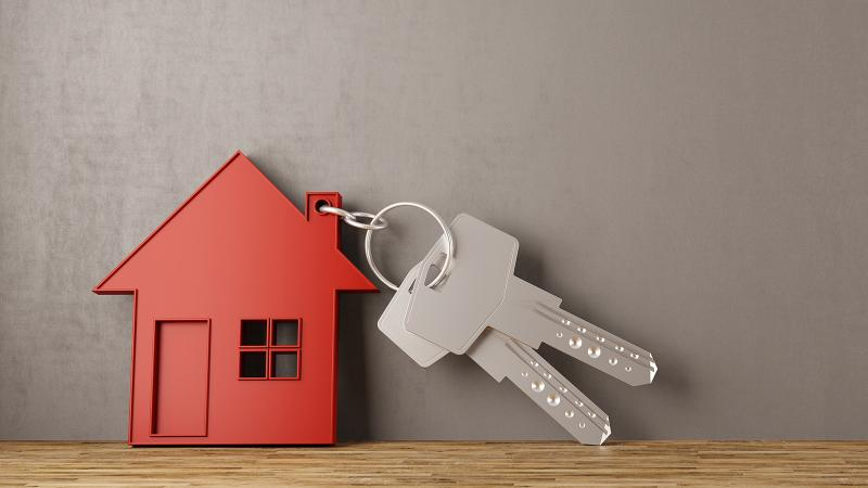 Tiny house keychain