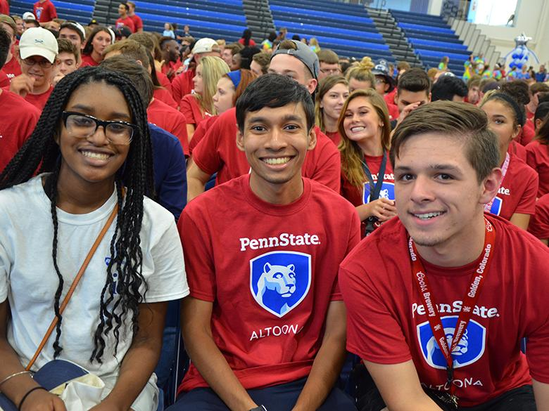 Students enjoying 2017 convocation