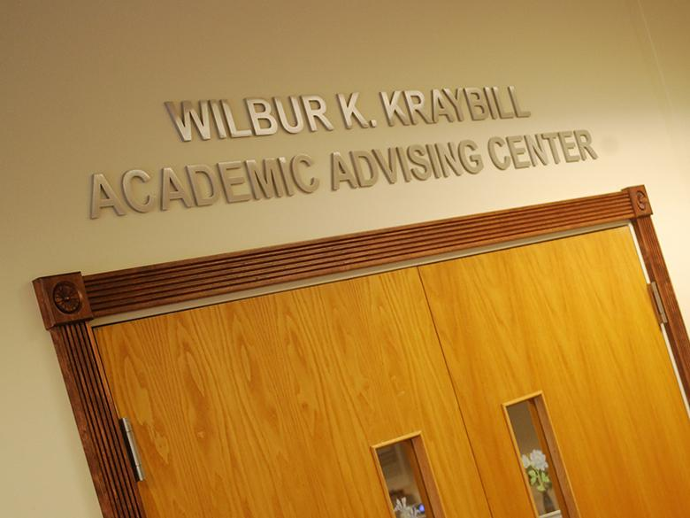 Entrance to the Advising Center