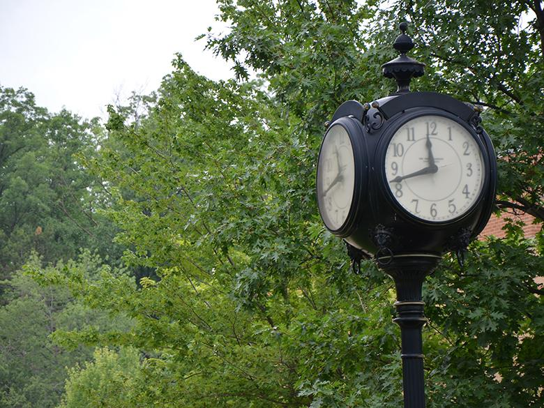 Clock in the Quad