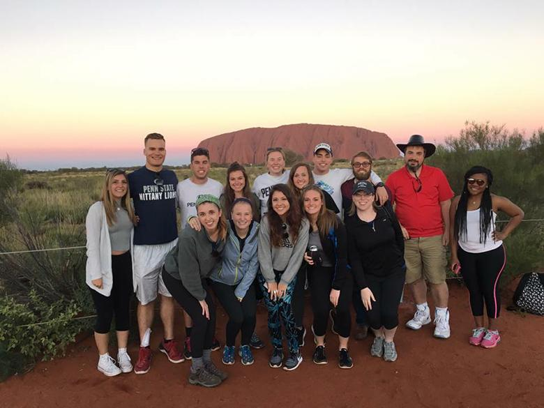 Penn State Altoona students and faculty in Australia
