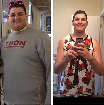 Ellman shows off his weight loss progression from THON 2014 to 2015