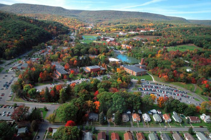 Aerial shot of Penn State Altoona