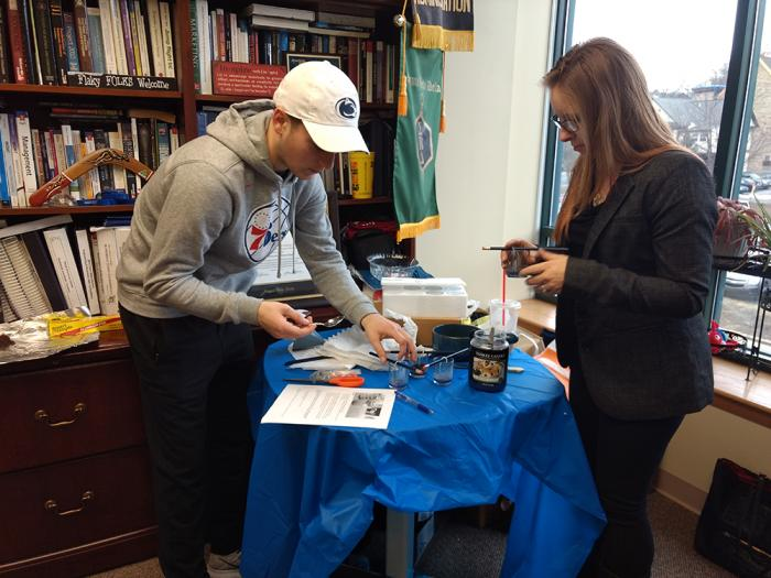 Enactus students experiment with  used coffee grounds