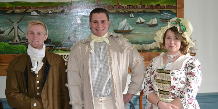 History students in costume