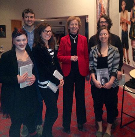 Honors Program - Photo with Mary Robinson