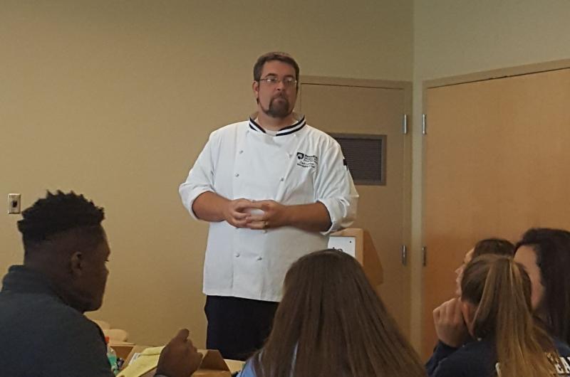 Guest speaker Chef Zach Lorber from Port-Sky Cafe