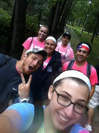 Meghan Delsite with Penn State Altoona Orientation Leaders