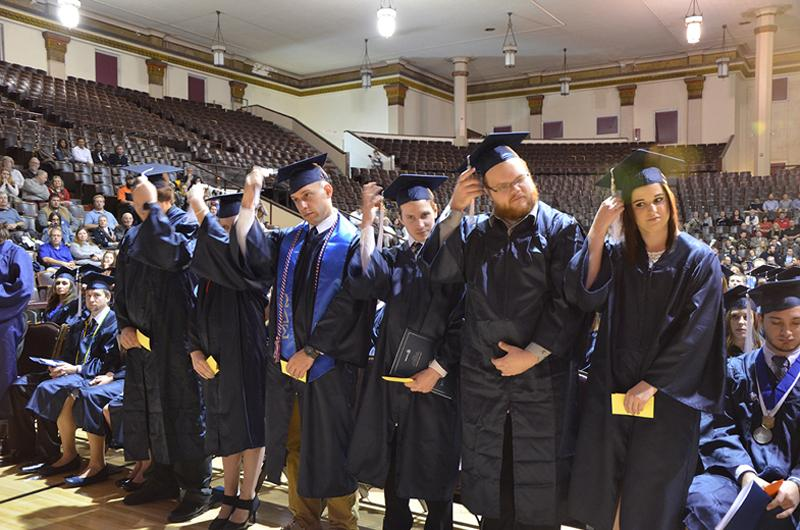 Graduates' degrees are confirmed at Fall 2016 Commencement