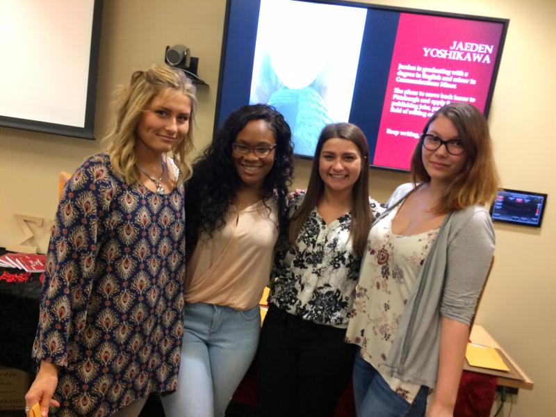 Sigma Tau Delta students