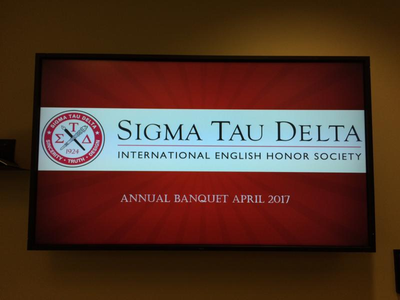 Sigma Tau Delta digital sign