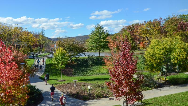 Campus on a beautiful fall day
