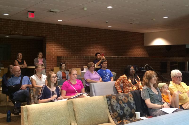 The audience at the celebration of Erin Kelly's Chapbook