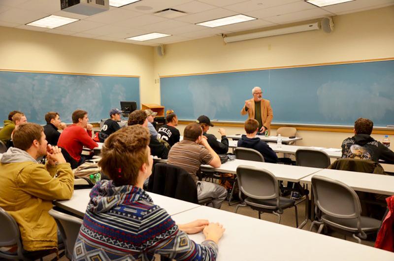 Bill White teaching a class