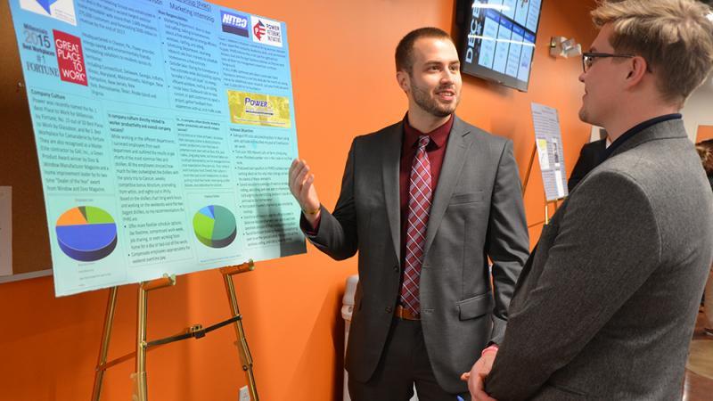 A business internship poster presentation