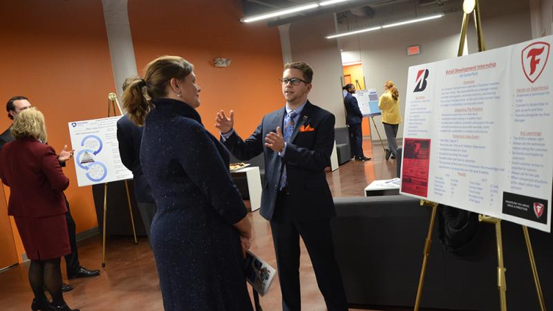 Business internship poster presentation