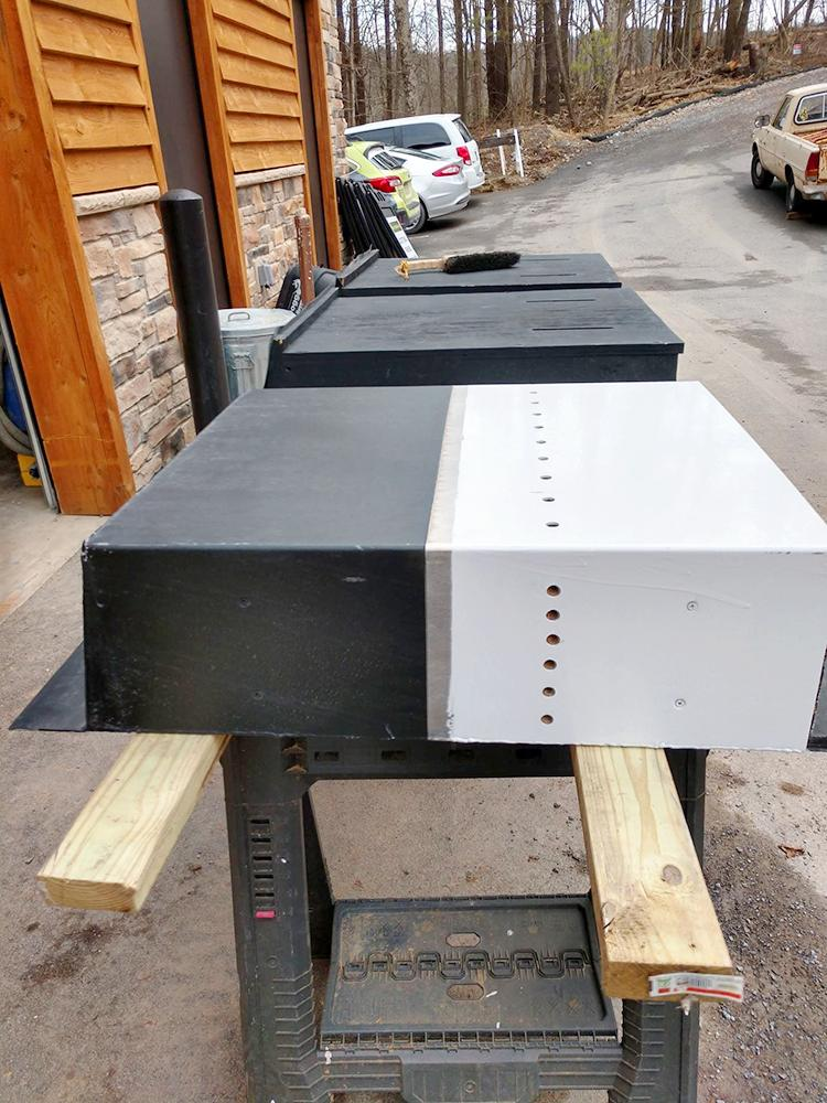 Bat boxes ready for installation.