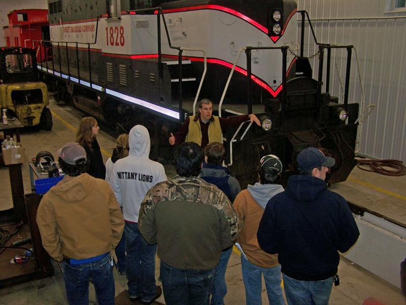 Field trips rail transportation engineering penn state for New penn motor freight tracking