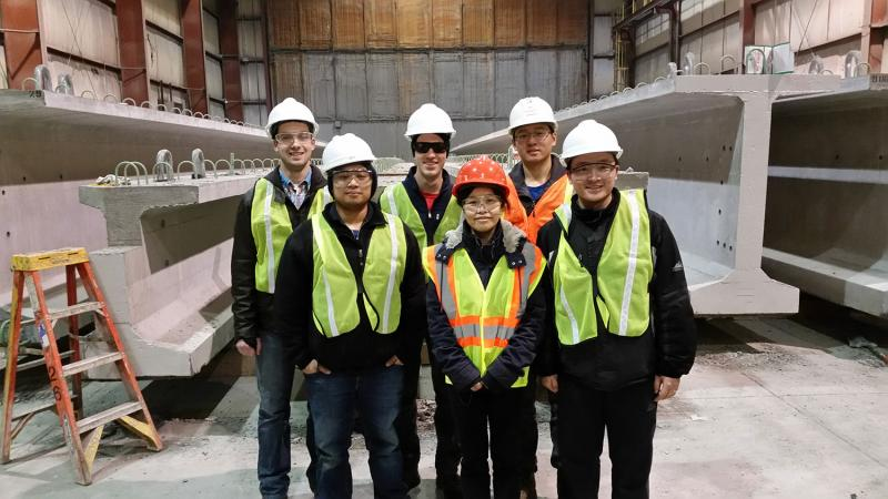 RTE Students visiting New Enterprise concrete plant