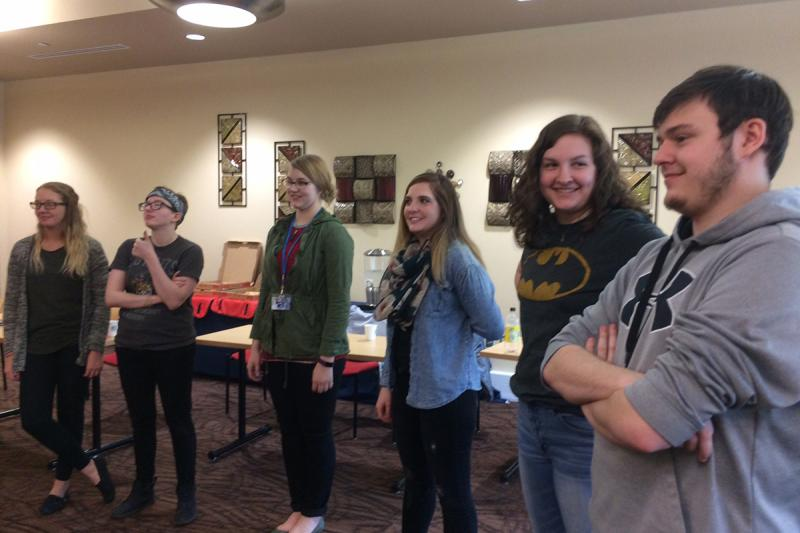 Students, faculty, and staff participate in a STAR Series workshop led by Sam Tanner