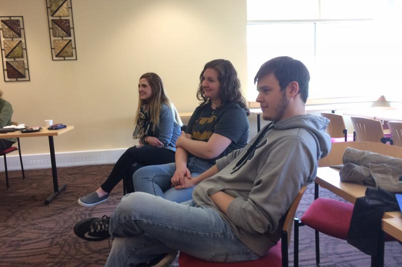 Students participate in a STAR Series workshop led by Sam Tanner