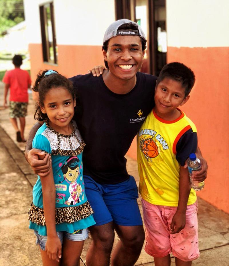 Hernandez working with Love in Action International Ministries in Guayaramerín, Bolivia