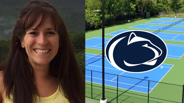 Megan Bettwy and Penn State Altoona tennis courts