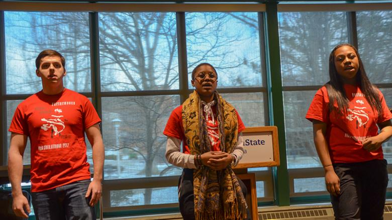 Students perform at the 2017 African American Read-In