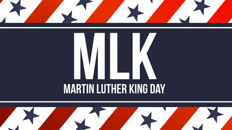 MLK: Martin Luther King Jr. Day graphic