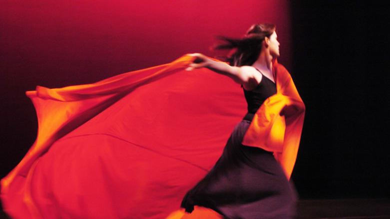 An Allied Motion dancer performs