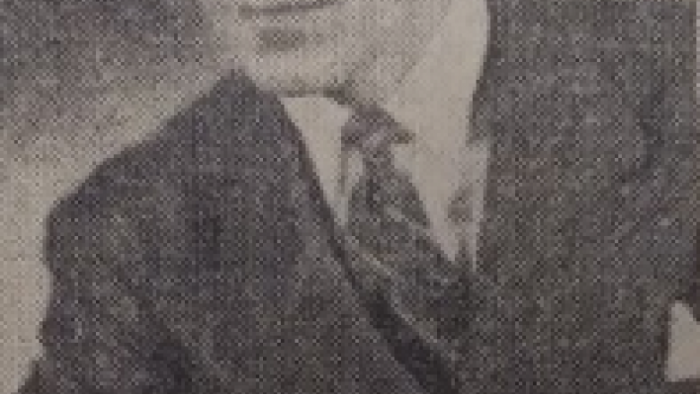Newspaper photo of Charles Diehl from 1942