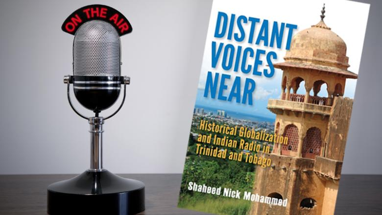 Radio microphone and Distant Voices Near book cover