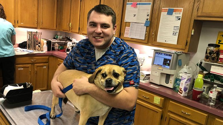 Jordan Wolfkill at the Big Valley Animal Hospital