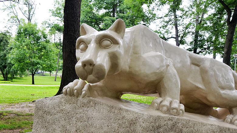 Penn State Altoona's Lion Shrine statue
