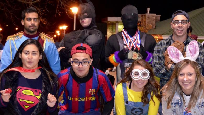 Students participate in the annual Safe Trick-or-Treat event