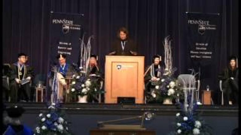 Fall 2016 Commencement Address - Rebecca Strzelec