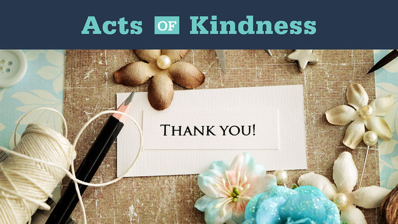 Acts of Kindness: Thank you card