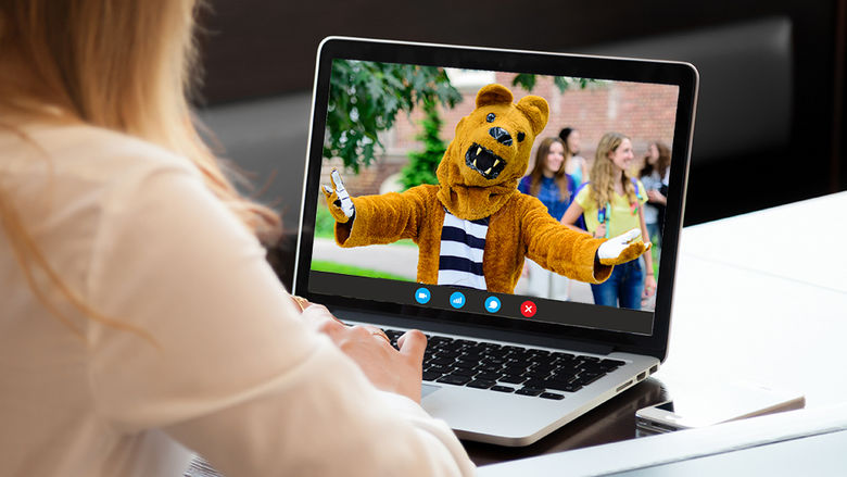 virtual meeting with the Nittany Lion