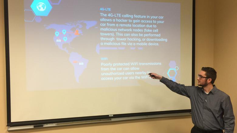 Jonathan Willett presents on his internship project