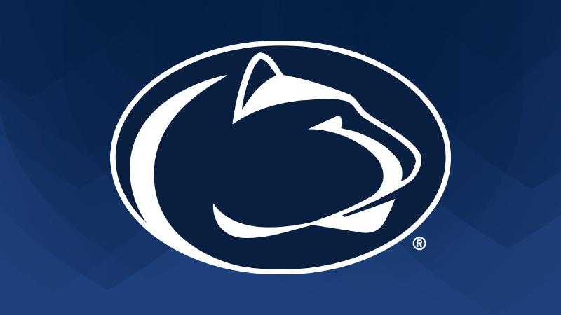 Penn State Athletics Logo on blue background