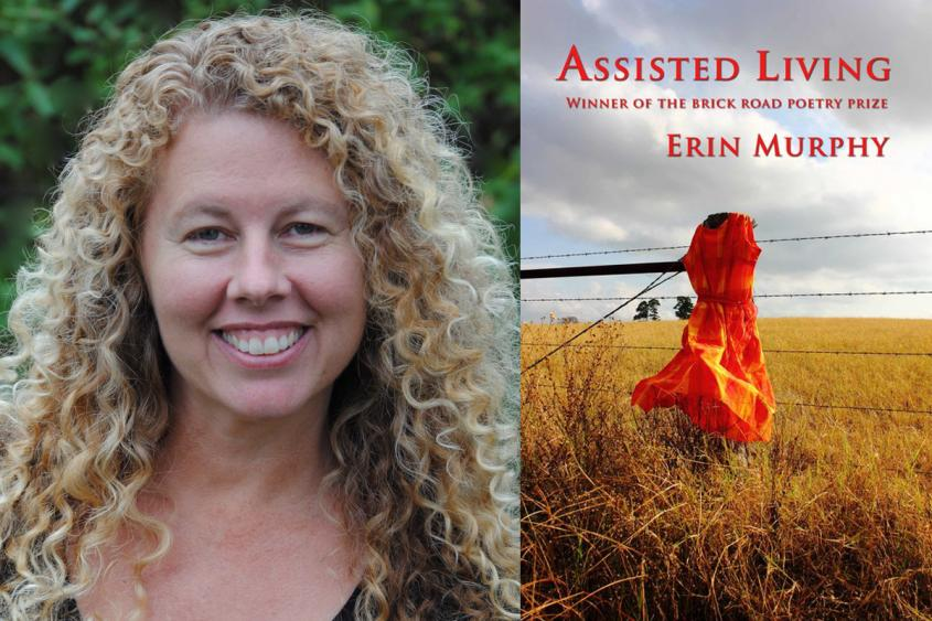 Erin Murphy and the cover of her book, Assisted Living